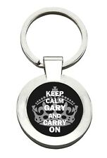 GARY - KEEP CALM & CARRY ON - Key Ring, great present. Personalised gift idea