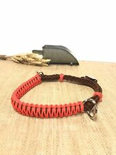 side pull hackamore attachment with a whoa orange and brown.. mini to draft siz
