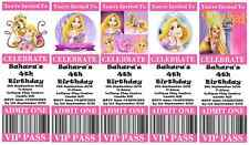 RAPUNZEL Personalised Ticket Style Birthday Invitations
