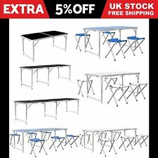 Portable Folding Camping Picnic Table Party Outdoor Garden BBQ Chair Stools Set!
