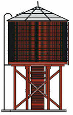 Broadway Limited-Operating Water Tower w/Sound -- Painted, Unlettered (barn red)