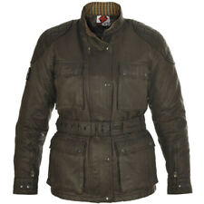 Oxford ladies Heritage Wax Waxed Cotton Textile Motorcycle Jacket - Olive