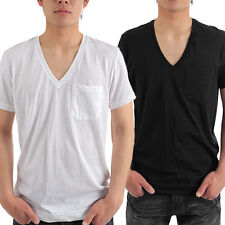 Calvin Klein U8914 Undershirt Men's Bold Cotton Vneck Left Chest Pocket T Shirt