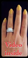 Designs*3.8 Carat Engagement & Wedding Engagement Rings Diamond Ring St.Silver