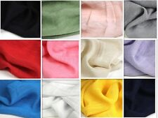 Soft Plain Linen Cotton Ethnic Clothing Dress Shirts Crafts Upholstery Fabric