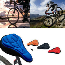 Cycling Bicycle Cover Soft Seat Gel Cushion Saddle 3D Pad Bike Saddle Silicone