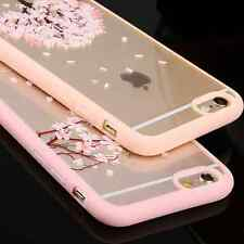 Romantic Cherry sakura Blossom Tree Hard Clear Back Case Cover For iphone 6 p au