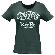 Oily Rag Clothing Casual Ladies Scooped Neck Motor Co T-Shirt - Charcoal
