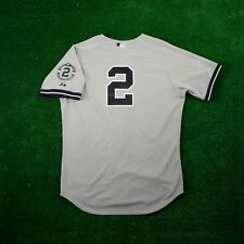 2014 DEREK JETER New York Yankees Authentic Grey Road Jersey w/ Retirement Patch