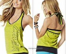 ZUMBA FITNESS DANCE-Bubble HalterTop Tee Shirt Tank -CUT iT Up for Edgy Look S M