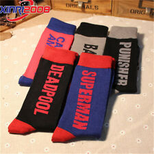 1/5Pairs Mens Cotton Socks Lot Super Hero Design Fashion Casual Dress Socks 9-11