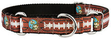 Country Brook Design® Football with Jack Ribbon Martingale Dog Collar
