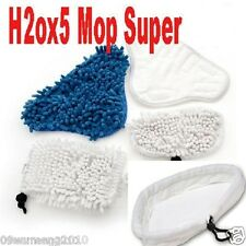 Coral Velcro shark Steam Mop Pads Vax X5 MicroFiber washable H2O h20 pads