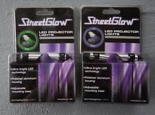StreetGlow LED Projector Lights Green or Purple Ultra Bright Auto Accessory Gift