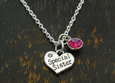 PERSONALIZED Special Sister Necklace - choose your Birthstone, Sister Birthday