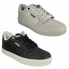 MENS LAMBRETTA ROLLER SKATER STYLE FLAT LACE UP CASUAL TRAINERS