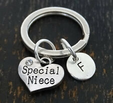 PERSONALIZED Special Niece Keychain - choose your Initial, Niece Gift