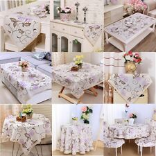 Embroidered Purple Flower Lace Tablecloth Table Runner Placemats Banquet Event