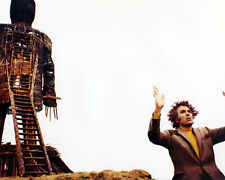 Christopher Lee Standing in Front of the Wicker Man Poster or Photo