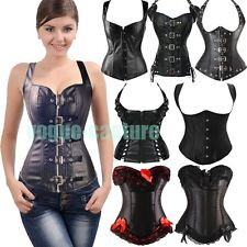Sexy Lace Up Brocade Black Gothic Corset Bustier Top Waist Training Cincher VC