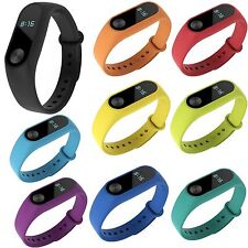 11 Colors Silicone Wrist Watch Band Strap Bracelet For XiaoMi Mi Band 2 Tracker