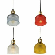 Vintage Style Industrial Ceiling Light Cafe Bar Kitchen Glass Shade Pendant Lamp