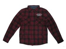 West Coast Choppers Quilted/ Flannel Quilted jacket in black / Red
