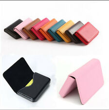 New Business ID Credit Card Wallet Holder PU Leather Pocket Case Box