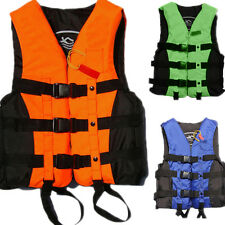 Polyester Adult Life Jacket Universal Swimming Boating Ski Vest+Whistle ab