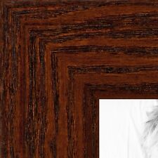 ArtToFrames 1.5 Inch Walnut Stain on Oak Wood Picture Poster Frame 80206 SM