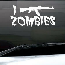 I Shoot Zombies Quote Car Vinyl Sticker Gun Auto Windshield Waterproof Decal