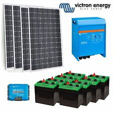 Victron Off Grid Solar Kit-  3KVA Inverter Charger | 1000W Solar PV | 11kWh F...