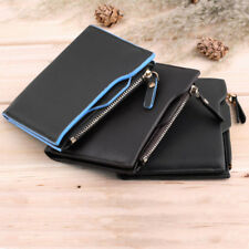 New Men's Faux Leather ID credit Card holder Bifold Purse Wallet Pockets Owl MC