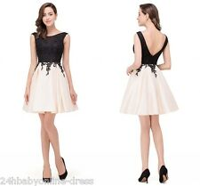 Babyonlinedress Short Lace Backless Homecoming Cocktail Bridesmaid Party Dresses