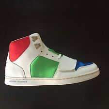Creative Recreation Solano White Red Blue Green Size 12 BNIB Free Shipping!!