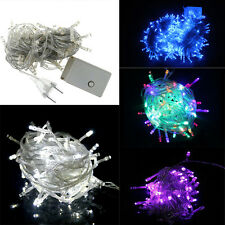 Colourful String Fairy Light 100 LED Xmas Lights Party Wedding In/Outdoor Decor
