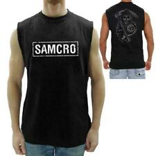 Sons Of Anarchy SAMCRO SOA Officially Licensed Men's Sleeveless T-Shirt