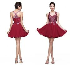 Sparkling Crystal Short Mini Homecoming Dress Evening Prom Party Cocktail Dress
