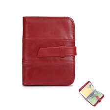 New Women Lady Genuine Leather Bifold Credit Card Holder ID Case Purse Wallet