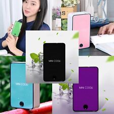 NEW Rechargeable Portable USB Hand Held Air Conditioner Summer Cooler Fan MC