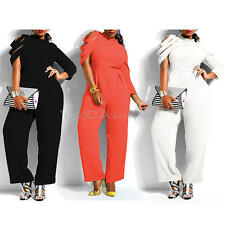 Loose Lady Irregular Sleeve Chiffon Romper Trousers Playsuit Party Jumpsuit