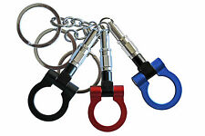 Metal Plastic Trailer Hook Towing Ring Key Ring fob Chain Keyring TOWING /1563
