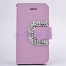 Bling Luxury PU Leather Magnetic Flip Stand Wallet Cover Case For iPhone 5c WT