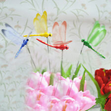 Dragonfly On Sticks Popular Art Garden Vase Lawn Craft Decoration 4Colors*1 Top