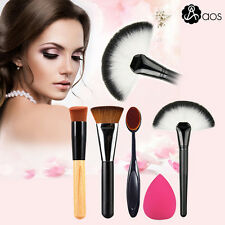 Professional Toothbrush Oval Makeup Brushes Set Foundation Cosmetics Face Tool