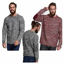 MENS JUMPER CASUAL BRAVE SOUL DAWKINS KNIT ELBOW PATCH WORK SWEATER KNITTED TOP
