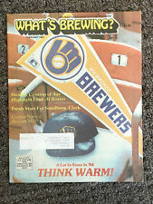 1984 WHAT'S BREWING? Official Magazine of Milwaukee Brewers - 1 Issue !!!