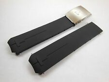 HQ 20mm Black Rubber Watch Strap Band For Tissot T-Touch