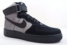 NIKE WOMENS AIR FORCE 1 HI PRM SHOES metallic silver black 654440 003