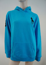 POLO RALPH LAUREN Boys Caribbean Blue Big Pony Hooded Hoodie Sweatshirt Top BNWT